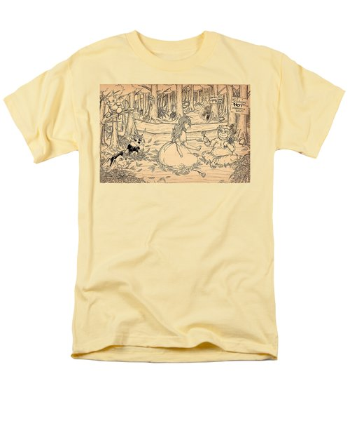Men's T-Shirt  (Regular Fit) featuring the drawing Tammy And The Baby Hoargg by Reynold Jay