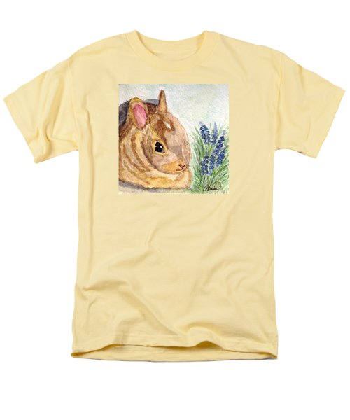 Men's T-Shirt  (Regular Fit) featuring the painting A Baby Bunny by Angela Davies