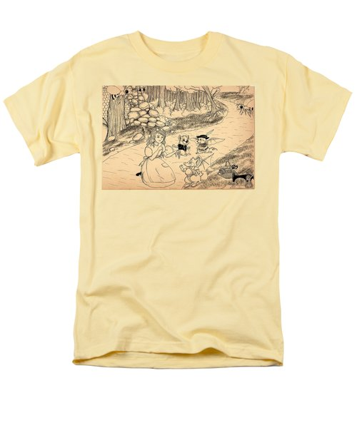 Men's T-Shirt  (Regular Fit) featuring the drawing Tammy  Meets Cedric The Mongoose by Reynold Jay