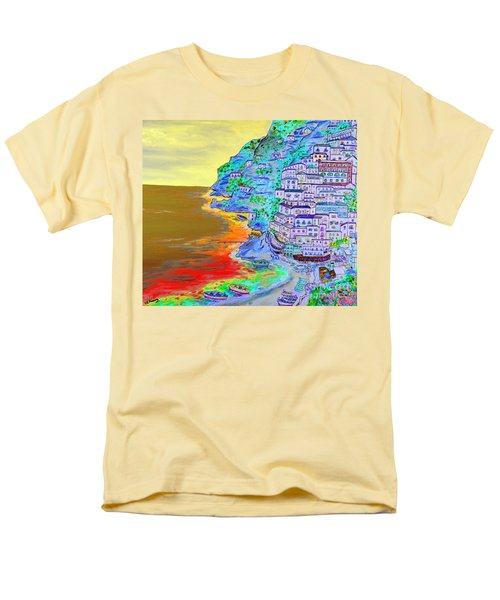 A Coastal View Of Positano Men's T-Shirt  (Regular Fit) by Loredana Messina