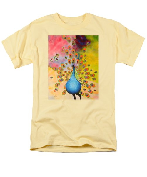 A Peculiar Peacock Men's T-Shirt  (Regular Fit) by Thomas Gronowski