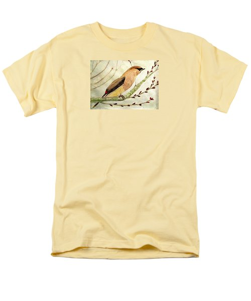 A Waxwing In The Orchard Men's T-Shirt  (Regular Fit) by Angela Davies