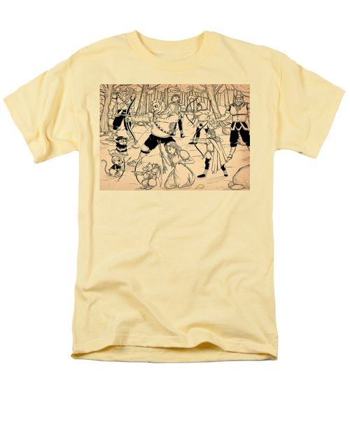 Men's T-Shirt  (Regular Fit) featuring the painting Archery In Oxboar by Reynold Jay