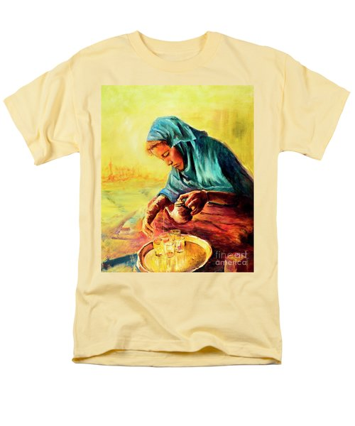 African Chai Tea Lady. Men's T-Shirt  (Regular Fit) by Sher Nasser
