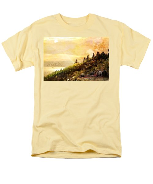 Men's T-Shirt  (Regular Fit) featuring the photograph Alaska Montage by Ann Lauwers