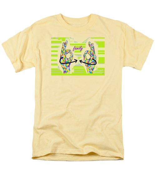 American Sign Language Family                                                    Men's T-Shirt  (Regular Fit) by Eloise Schneider