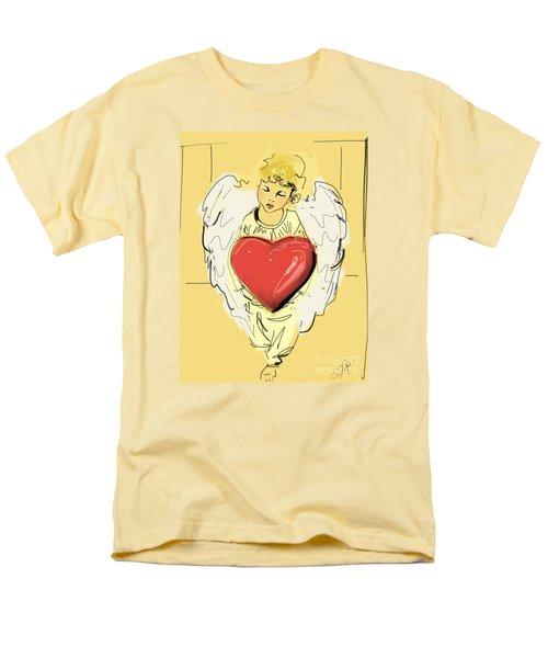 Angel Red Heart Men's T-Shirt  (Regular Fit) by Go Van Kampen