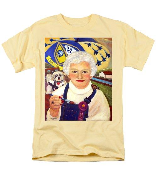 Men's T-Shirt  (Regular Fit) featuring the painting Artist At Work Portrait Of Mary Krupa by Bernadette Krupa