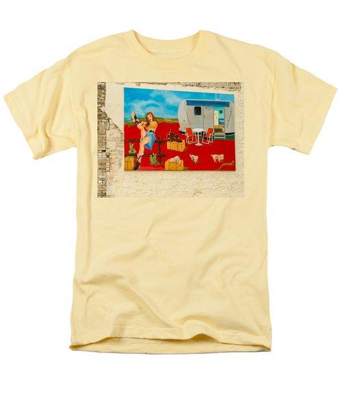 Austin - Camping Mural Men's T-Shirt  (Regular Fit) by Allen Sheffield