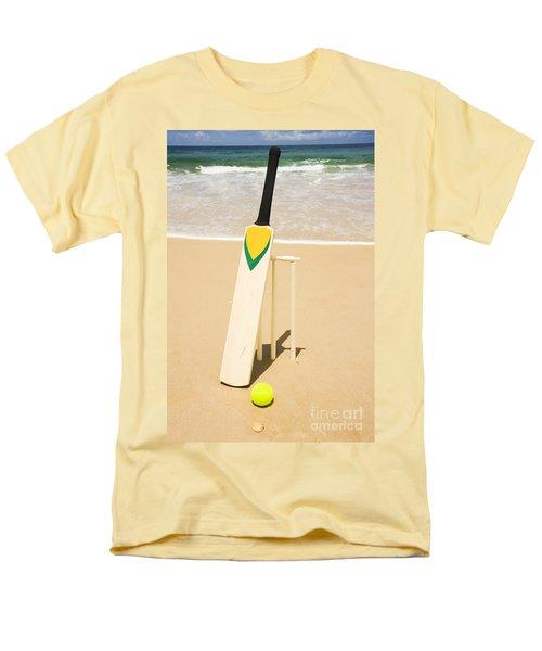 Bat Ball And Stumps Men's T-Shirt  (Regular Fit) by Jorgo Photography - Wall Art Gallery