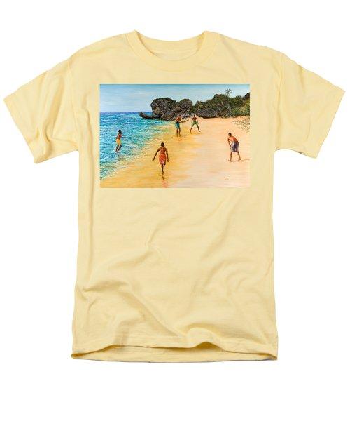 Beach Cricket Men's T-Shirt  (Regular Fit) by Victor Collector