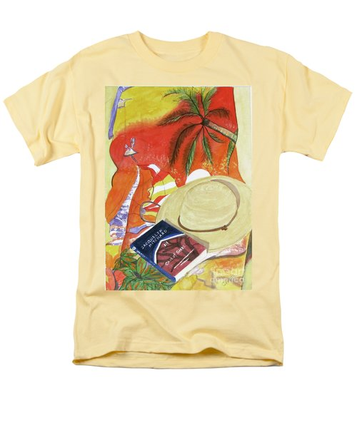 Men's T-Shirt  (Regular Fit) featuring the painting Beach Day by Carol Flagg