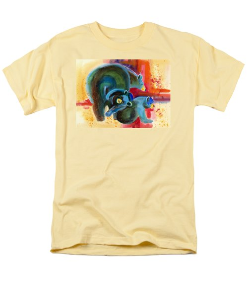 Men's T-Shirt  (Regular Fit) featuring the painting Bear Family In Red by Kathy Braud