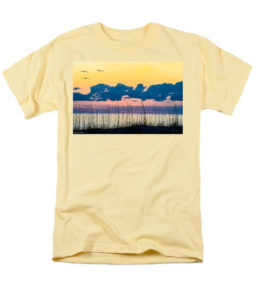 Beauty And The Birds Men's T-Shirt  (Regular Fit) by Mary Ward