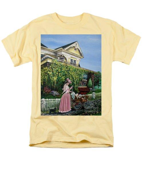 Behind The Garden Gate Men's T-Shirt  (Regular Fit) by Linda Simon