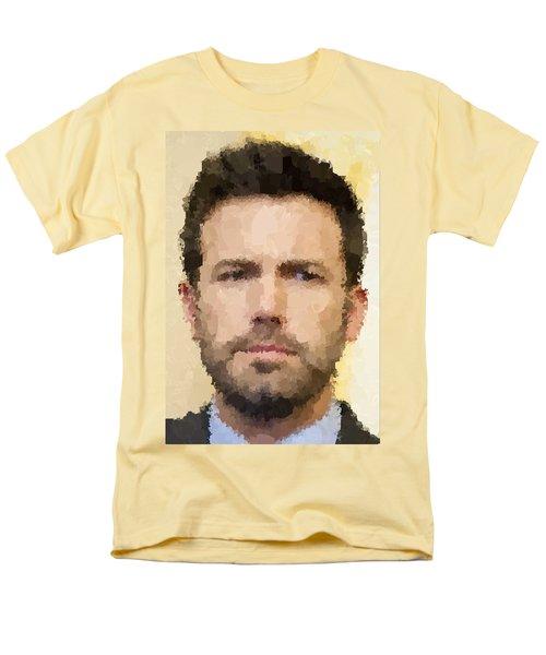 Ben Affleck Portrait Men's T-Shirt  (Regular Fit) by Samuel Majcen