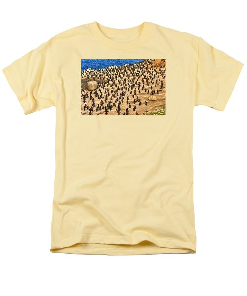 Men's T-Shirt  (Regular Fit) featuring the photograph Birds Of A Feather Stick Together by Jim Carrell