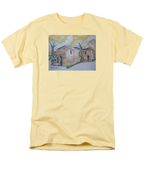 Men's T-Shirt  (Regular Fit) featuring the painting Blessed Mother's Home by Marilyn Zalatan