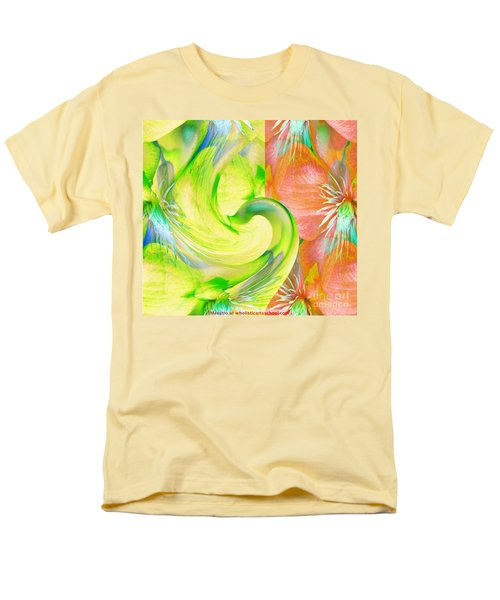 Men's T-Shirt  (Regular Fit) featuring the mixed media Bloom Dance  by Maestro