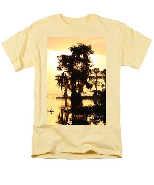 Men's T-Shirt  (Regular Fit) featuring the photograph Blue Cypress Yellow Light by Paul Rebmann