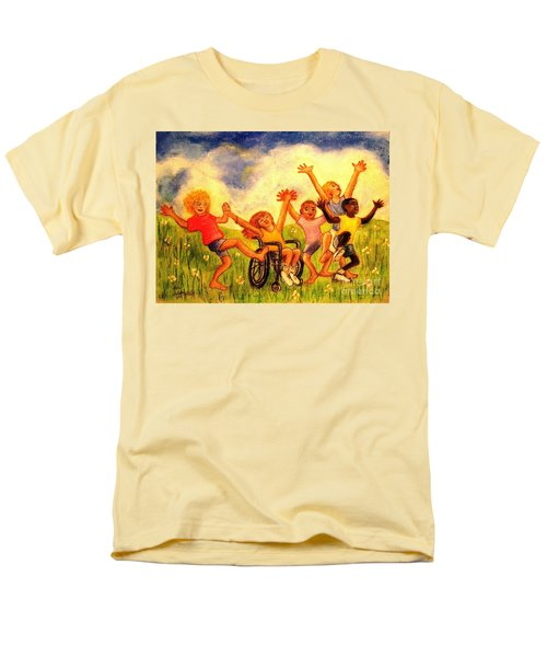 Men's T-Shirt  (Regular Fit) featuring the pastel Born To Be Free by Hazel Holland