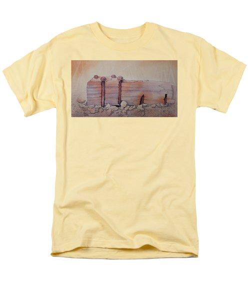 Men's T-Shirt  (Regular Fit) featuring the painting Broken Dock Seward Alaska by Richard Faulkner