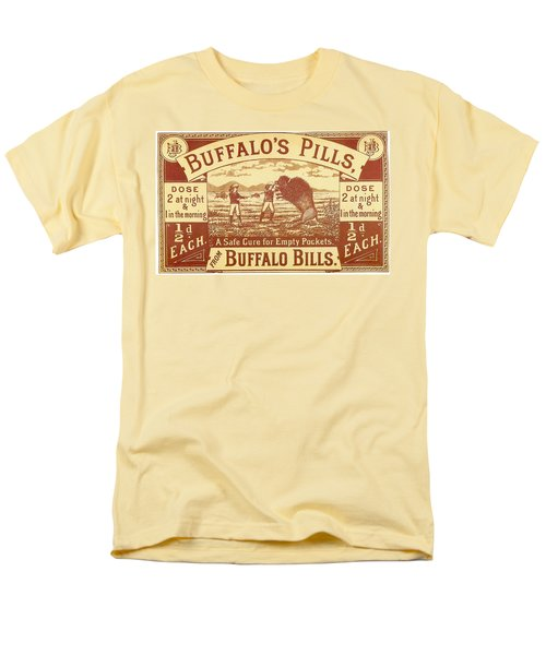 Men's T-Shirt  (Regular Fit) featuring the photograph Buffalo's Pills Vintage Ad by Gianfranco Weiss
