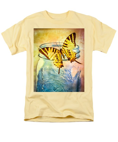 Butterfly Blue Glass Jar Men's T-Shirt  (Regular Fit) by Bob Orsillo