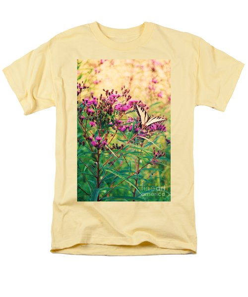 Men's T-Shirt  (Regular Fit) featuring the painting Butterfly Wildflower by Eric  Schiabor