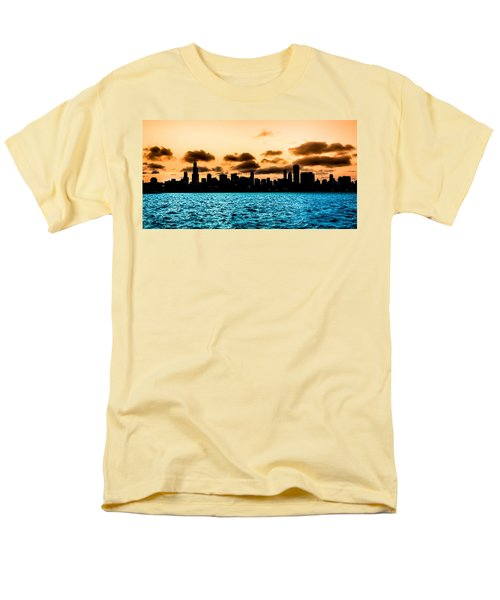 Chicago Skyline Silhouette Men's T-Shirt  (Regular Fit) by Semmick Photo