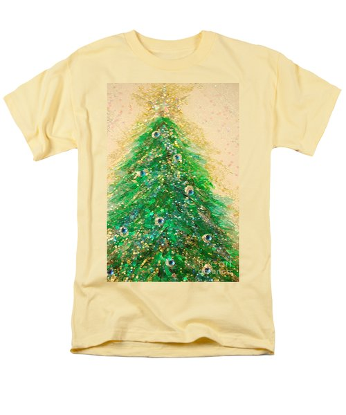Christmas Tree Gold By Jrr Men's T-Shirt  (Regular Fit) by First Star Art