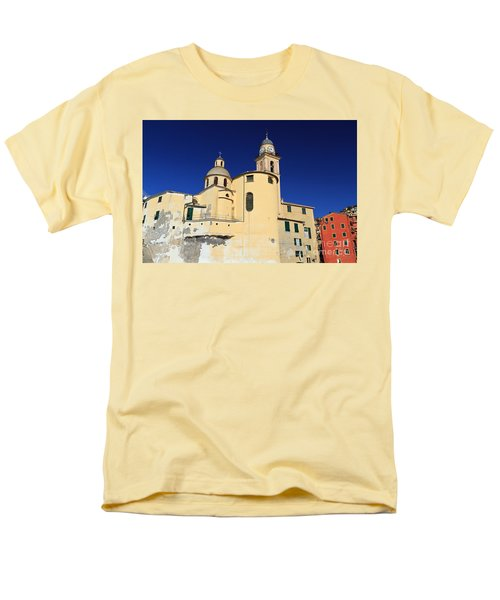 Men's T-Shirt  (Regular Fit) featuring the photograph Church In Camogli by Antonio Scarpi