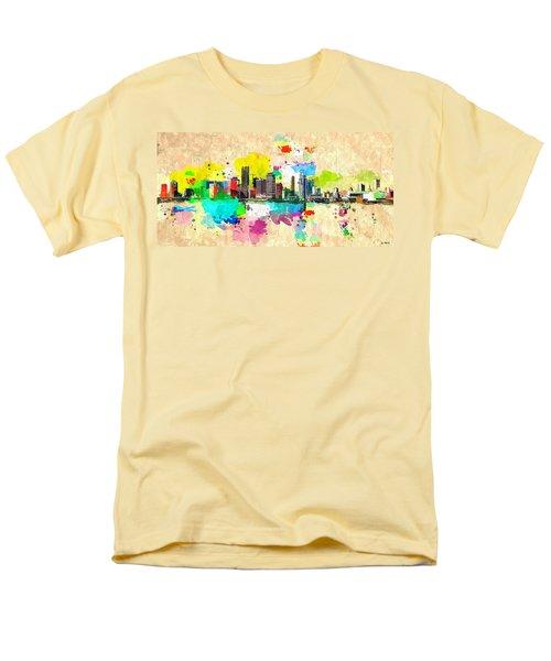 City Of Miami Grunge Men's T-Shirt  (Regular Fit) by Daniel Janda
