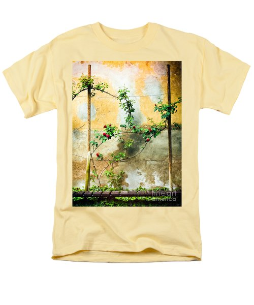 Men's T-Shirt  (Regular Fit) featuring the photograph Climbing Rose Plant by Silvia Ganora