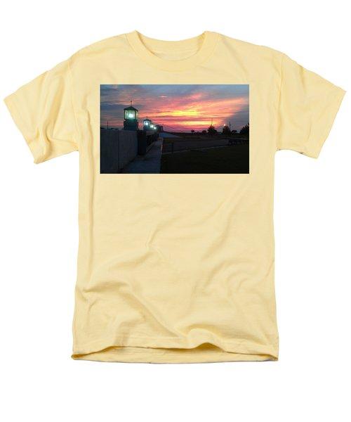 Closed Flood Gates Sunset Men's T-Shirt  (Regular Fit) by Deborah Lacoste
