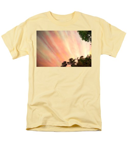 Men's T-Shirt  (Regular Fit) featuring the photograph Cloud Streams by Charlotte Schafer