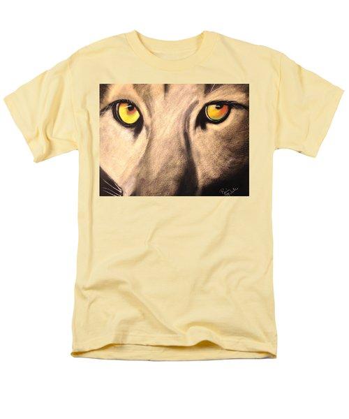 Cougar Eyes Men's T-Shirt  (Regular Fit) by Renee Michelle Wenker