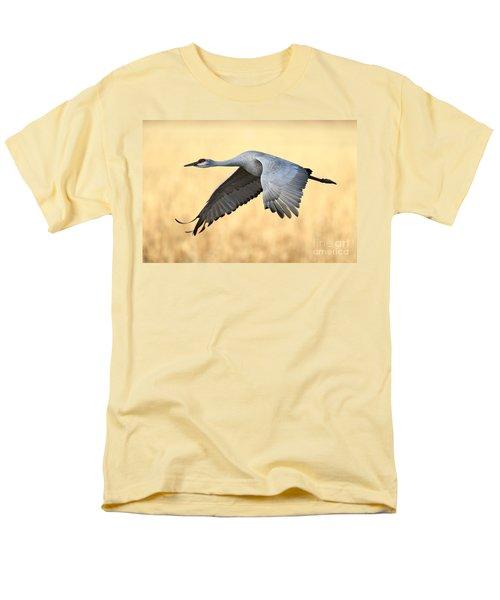 Crane Over Golden Field Men's T-Shirt  (Regular Fit) by Bryan Keil