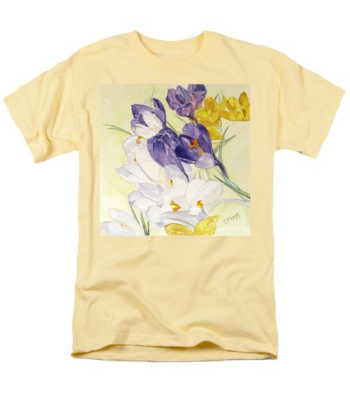 Men's T-Shirt  (Regular Fit) featuring the painting Crocus by Carol Flagg