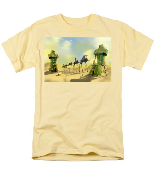 Men's T-Shirt  (Regular Fit) featuring the photograph Dali On The Move  by Mike McGlothlen