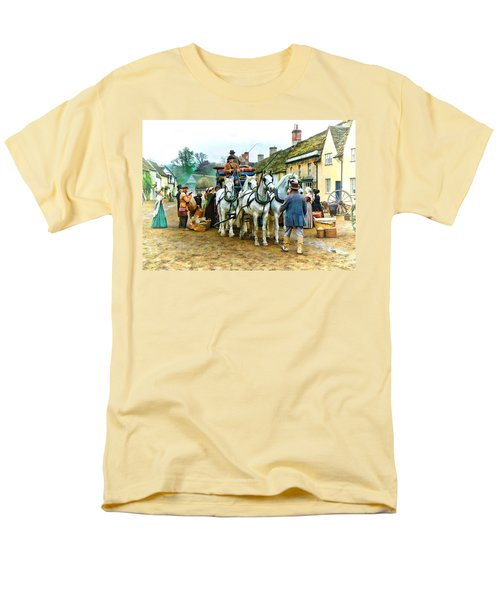 Departing Cranford Men's T-Shirt  (Regular Fit) by Paul Gulliver