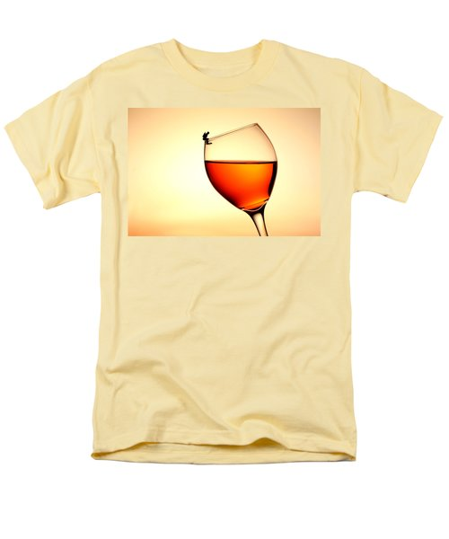 Diving In Red Wine Little People On Food Men's T-Shirt  (Regular Fit) by Paul Ge