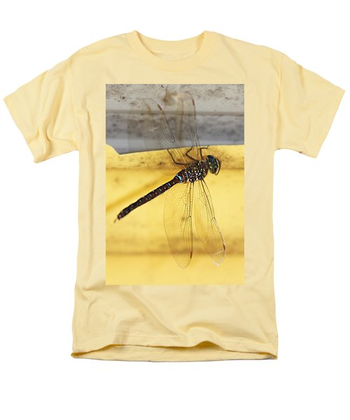 Men's T-Shirt  (Regular Fit) featuring the photograph Dragonfly Web by Melanie Lankford Photography