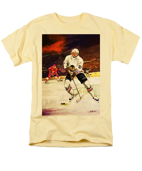 Men's T-Shirt  (Regular Fit) featuring the painting Drama On Ice by Al Brown