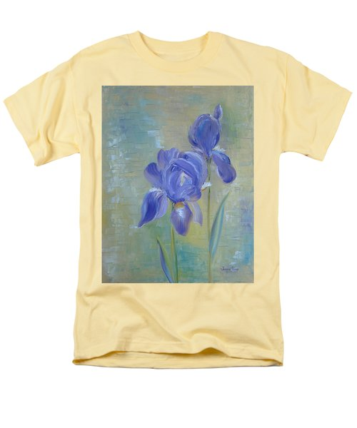 Men's T-Shirt  (Regular Fit) featuring the painting Elizabeth's Irises by Judith Rhue