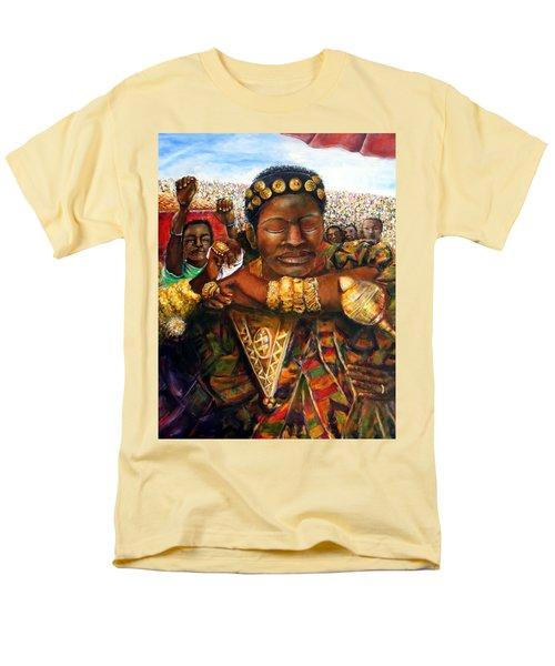 Men's T-Shirt  (Regular Fit) featuring the painting Ethiopia Dancing  by Bernadette Krupa