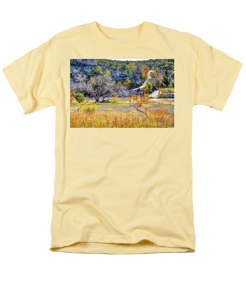 Fall In The Texas Hill Country Men's T-Shirt  (Regular Fit) by Savannah Gibbs