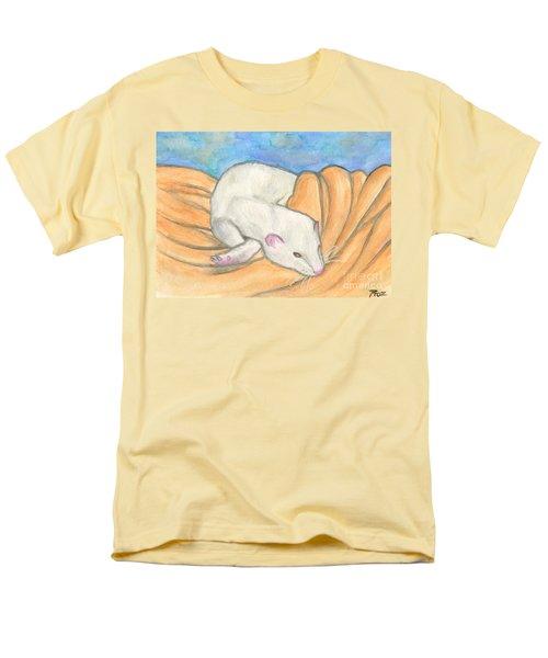 Ferret's Favorite Blanket Men's T-Shirt  (Regular Fit) by Roz Abellera Art