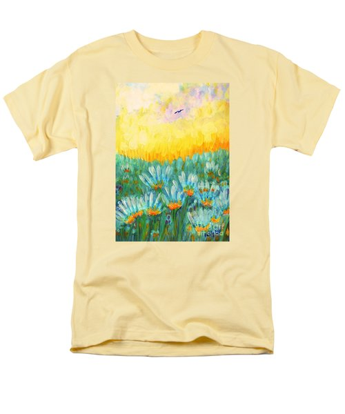Men's T-Shirt  (Regular Fit) featuring the painting Firelight by Holly Carmichael