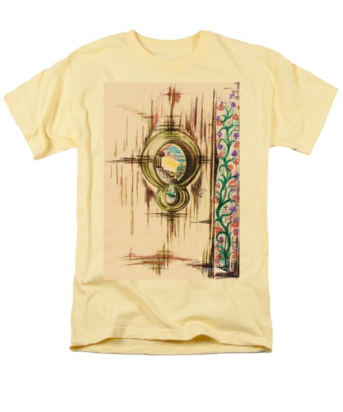 Garden Through The Key Hole Men's T-Shirt  (Regular Fit) by Teresa White